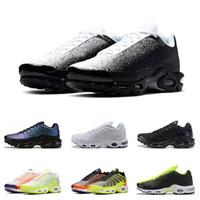 sapatos esportivos tamanho 46 venda por atacado-nike air max vapormax tn plus   tênis para homens Branco preto Laranja Volt Color Flip HYPER CRIMSON tênis esportivos formadores tamanho 40-46