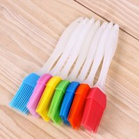 Wholesale bbq cooking tools for sale - Group buy 2019 Newest Silicone Baking Bakeware Bread Cook Brushes Pastry Oil BBQ Basting Brush Tool Color