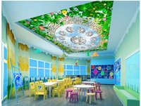 Wholesale painted flowers for walls chinese for sale - WDBH d ceiling murals wallpaper custom photo Flowers green leaf diamond painting bedroom home decor d wall murals wallpaper for walls d