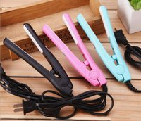 Wholesale mini electric hair straightener for sale - Group buy Mini hair straightener iron splint electric ceramic hair straightening straight plate straightener flat irons Ceramic Plates