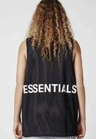 siyah örgü yeleği top toptan satış-YENI God of Essentials Korkusu Mesh Tank Top SIS yelekleri çift taraflı Yaz Tarzı için Siyah beyaz Giymek için Korku tanrı korkusu t-shirt Streetwear S-XL