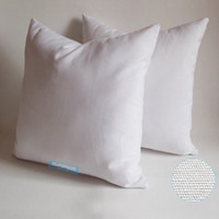 Wholesale cotton canvas pillow cover online - 100pcs x18 Inches Oz Canvas Pillow Case Plain Raw Cotton Blank Pillow Cover For Hand Drawing Embroidery Printed Blank Cushion Cover