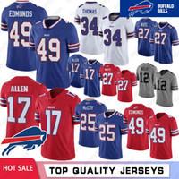 Wholesale football jerseys 99 for sale - Group buy 49 Tremaine Edmunds Jerseys Thurman Thomas Bills Jim Kelly LeSean McCoy Josh Allen Buffalo Dareus Kyle Williams Stitched