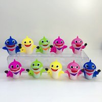 Wholesale shark figures for sale - Group buy Baby Shark Action Figures set cm Cartoon Silicone Shark Animal Doll Mini Model Cake Topper Novelty Items OOA6441