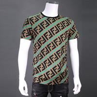 Wholesale top tee brand t shirts online - 19SS Roma Italy brand F logo t shirt good quality mens t shirt luxury brand designer tee tops
