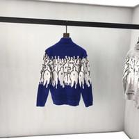 Wholesale computer models resale online - Men s turtleneck sweater ladies sweater digital jacquard sweaters2019 couple models fashion wild autumn and winter new men s clothing QQ7
