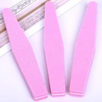 дизайн розовых ногтей оптовых-пилочка для ногтей губка алмазный дизайн 100/180 lixa de unha hot nails art розовый шлифовальный буфер для ногтей инструмент для полировки оптом