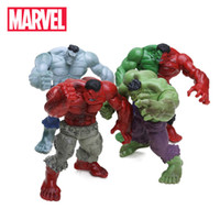 Wholesale marvel superheroes action figures resale online - Pack Of Marvel cm The Avengers Superhero Green Red Hulk Pvc Action Figures Set Collectible Model Doll Toys Q190522