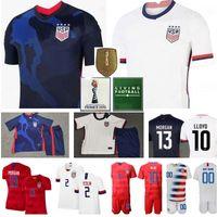 Wholesale Soccer USA Jersey National Team DeAndre Yedlin Jersey Christian PULISIC BRADLEY ZARDES GONZALEZ MORRIS US American Football Shirt Navy White