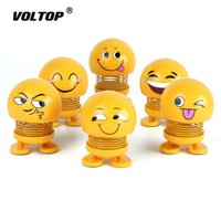 Wholesale car shaking head dolls for sale - Group buy Smile Face Car Decoration Accessories for Girls Pendant Interior Shake Head Jumping Doll Ornaments Christmas Gift