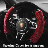 Wholesale wheel momo resale online - Car Steering Wheel Cover for ssangyong kyron ssangyong All Model Steering Wheel Cover Braid on The Steering Wheel momo
