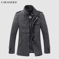mode erbsen mäntel für männer großhandel-Neue Winter Wollmantel Slim Fit Jacken Mode Oberbekleidung Warme Mann Freizeitjacke Mantel Pea Coat Plus Größe M-XXXL