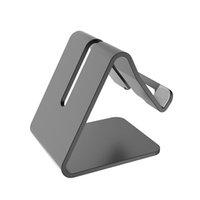 mobile aluminiumhalterung großhandel-Aluminium metall handy tablet halter desktop universal rutschfeste mobile halterung ständer halter für iphone pad für samsung s9 huawei mate 20