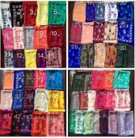 ingrosso sciarpe cranie seta-Sciarpa del cranio del progettista di marca di 71 colori per le donne e gli uomini Migliore qualità 100% delle donne di modo del raso di seta di seta pura Sciarpe di marca di pashmina dell'Italia