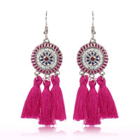 Wholesale jewelry for sale - 2019 handmade ethnic bohemian thread tassel earrings vintage Jewelry for woman and girls colors C6029