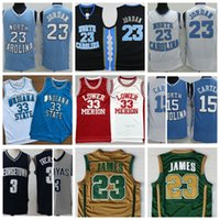 Wholesale Michael Iverson Carter Bird Bryant James High School College Movie Basketball Jersey Swen All Color S XXL