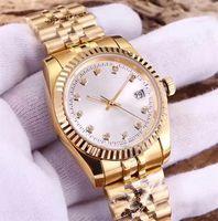 relojes amantes de lujo al por mayor-Amantes Relojes Diamante Reloj de lujo para mujer Relojes de pulsera automáticos famosos diseñador damas pareja reloj exquisito orologio di lusso