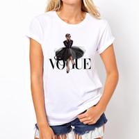 forma engraçada camisetas venda por atacado-VOGUE Lady impressão T Shirt 2019 Moda Verão Mulheres T-Shirt Engraçado Camisetas Harajuku manga curta casual tees tops lovrly