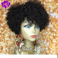 Wholesale curly red synthetic wigs for sale - Group buy Hotselling short Brazilian Kinky Curly wigs Lace Front synthetic wigss heat Lace Frontal wigs Pre Plucked Baby Hair Black wigs for women