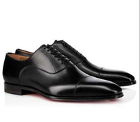 черные замшевые туфли мужчины оптовых-Бренд мужчины Dress Shoes Red Bottom Loafers роскошные свадебные туфли дизайнер черный натуральная кожа замша Dress Shoes мужские скольжения на квартирах