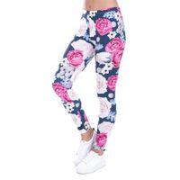 ingrosso 36 rose-Leggings donna autunno marca Zohra affascinante rose selvatiche stampa leggings leggings casuali leggings slim fit pantaloni da donna Y19072901