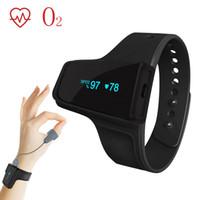 ingrosso monitor ossigeno dell'ossimetro di impulsi-Sonno Monitoraggio dell'ossigeno Allarme a vibrazione per il saturimetro da polso Bluetooth Snore Apnea che rileva il livello di saturazione durante la notte