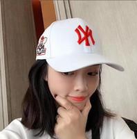 bonnet de baseball de printemps coréen achat en gros de-Chapeau de printemps 2019 coréen de la mode des jeunes de la rue rue garçons et filles parasol casquette de baseball tout assorti casquette de baseball Porcinet