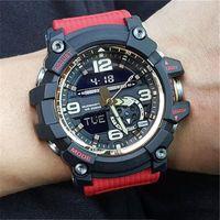 montre de boussole de luxe achat en gros de-2019 Arrivée Mode Hommes G Style thermomètre Montres-bracelets choc Boussole militaire 1000 Montres de luxe Montres Hommes de gros