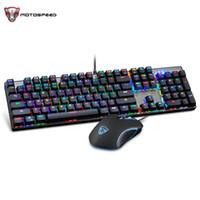 Motospeed CK888 RGB Backlight Mechanical Gaming Keyboard Game Mouse Combo Set LED Backlit Adjustable DPI for Computer Pro Gamer