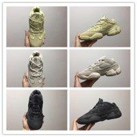 zapatillas de colores al por mayor-Adidas Yeezy 500 14 colores Kanye West 500 Salt Hombres running Zapatillas de deporte para hombre Zapatos de diseño 5 deporte Mujer S Rojo Bottoms Tamaño 46 Utilidad