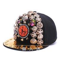 Wholesale punk boy cap for sale - Group buy New CNM Design Rivet Cap Hip Hop Punk Rivet Male Leopard Head Pointed Arena Baseball Hat Men and Women Hip Hop Party