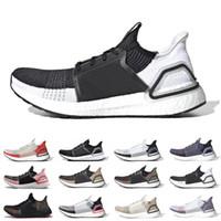ultra-boost mens toptan satış-Erkekler kadınlar için 2019 Ultra boost 19 koşu ayakkabıları Bulut beyaz siyah Oreo ultraboost 5.0 erkek eğitmen nefes koşucu spor sneakers