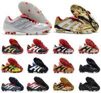acelerador al por mayor-Hot Classics Predator Accelerator Electricity Precision FG X Beckham DB Zidane ZZ 1998 98 Hombres zapatos de fútbol botines botas de fútbol Tamaño 39-45