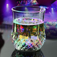 Wholesale flashing drink cups resale online - Colorful Plastic Cups Party LED Light Cup Luminous Beer Mug Drink Cup Colorful Cup For Whiskey Wine Home Drinking Flashing Light Glow Mug