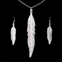 ingrosso set di gioielli indiani per la vendita-Gli orecchini di goccia della collana del pendente degli orecchini stabiliti dei monili placcati argento hanno regolato la vendita calda dei monili africani indiani delle donne solide