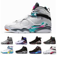 sevgililer günü mens toptan satış-2019 Güney Plaj Beyaz Aqua Baskını Kırmızı 8 VII 8 s erkekler Basketbol Ayakkabı sevgililer Günü Krom COUNTDOWN PAKETI erkek açık Spor Sneakers 8-13