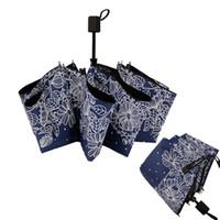 духи складной зонтик бутылки оптовых-Эскиз цветок женский зонт SunnyRainy мужской зонт женский зонтик для женщин Sun 3 складной мужской Parapluie Paraguas