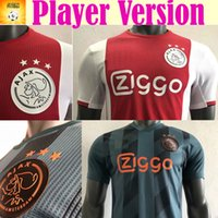 uniforme de futbol del ajax al por mayor-Player Version 19 20 Ajax home Camisetas de fútbol 2019 2020 # 7 NERES Ajax Camisetas de fútbol # 10 TADIC # 4 DE LIGT # 22 uniformes de fútbol ZIYECH