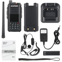 dijital telsiz telsizleri toptan satış-Baofeng DM-1702 GPS DMR Walkie Talkie Dual Band VHF 136-174 UHF 400-470 MHz Çift Zamanlı Yuvası Tier 12 Dijital / Analog Ham Radyo
