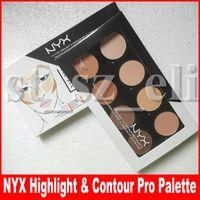 ingrosso ombreggiatore-Viso Makeup NYX Evidenziatore Contour 8 tonalità Face Powder Palette Foundation Concealer Contour Kit spedizione gratuita