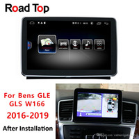 monitor bluetooth para carro venda por atacado-Rádio Multimedia monitor GPS Navigation Unidade de cabeça Bluetooth Android 8 Visor veículo 4G RAM 64G Para Mercedes Benz W166 Car GLE GLS