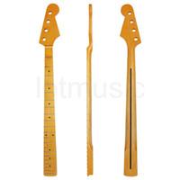 ingrosso basso jazz nero-Electirc Bass Guitar Neck 21 tasti Canada Acero per Jazz Bass Guitar Neck Pezzi di ricambio Black Dot Inlay Vintage Tint Satin