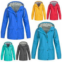 Wholesale wholesale camp clothing online - Striped Outdoor Jackets Women Winter Solid Pocket Waterproof Sunscreen Tracksuits Sports Coat Warm Home Clothing OOA6329