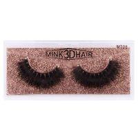 Wholesale shortest false eyelashes resale online - 3D Mink Eyelashes Mink Lashes False Eyelashes Cruelty free Soft Natural Short Thick Fake Eyelash Eyelashes Extension RRA2503