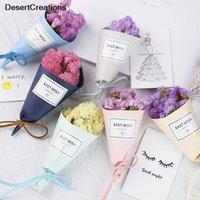 ingrosso negozi di lavanda-Mini One Mazzo di fiori di lavanda Non ti scordar di me Bouquet Fiori secchi naturali Fiori decorativi per matrimoni Shop Home Decor