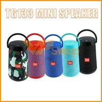 ручка динамика bluetooth оптовых-TG133 Bluetooth Mini Speaker Портативный SoundBar с ручкой Стерео Hi-Fi Sound Box TF Музыкальный плеер Беспроводной динамик Super Bass Boombox