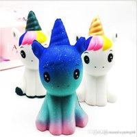 grande venda de brinquedos macios venda por atacado-Discout now Big sale New arrival Moda Colorido Macio Squishy Unicorn Healing Squeeze Flexível Brinquedo para crianças Presente Apaziguador de estresse Decoração engraçada