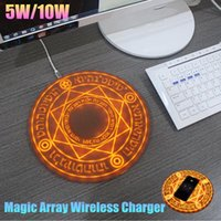 Wholesale standard iphone for sale – best Hot Selling W W Magic Array Fast Wireless Charger Qi Standard Charging Pad for iPhone XR XS MAX Plus Samsung Huaiwei