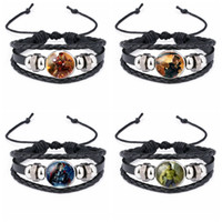 capitán américa joyería al por mayor-El envío de DHL The Avengers boys fashion bracelet Captain America spider-man iron-man superhéroe moda brazaletes joyas 8 nuevos diseños