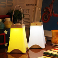 Wholesale emergency rechargeable led bulbs resale online - Creative Outdoors Portable Lanterns Intelligent USB Charging Led Lights Hand Held Lamp For Household Emergency White Color jn E1